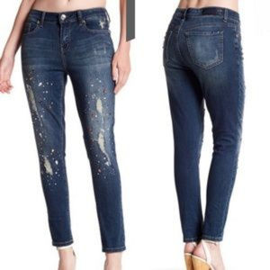 Seven7  Rhinestone Embellished Jeans Size 10